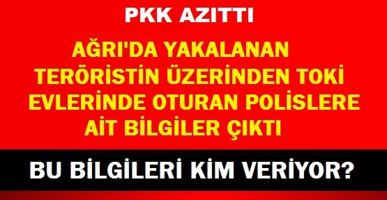 YAKALANAN PKK'LININ ÜZERİNDEN POLİSLERİN LİSTESİ ÇIKTI