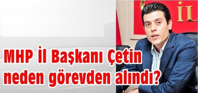 MHP Antalya İl Başkanı Osman Çetin'den Açıklama !
