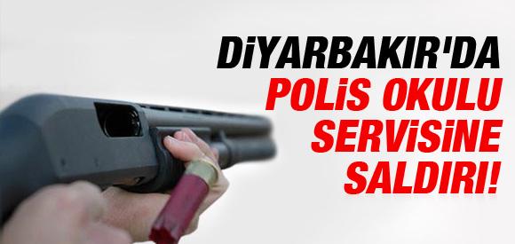 Diyarbakır'da polis servisine ateş açıldı