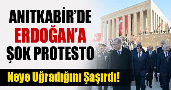 Anıtkabir'de Erdoğan'a Protesto !