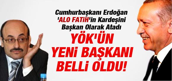 YÖK'ÜN YENİ BAŞKANI BELLİ OLDU !