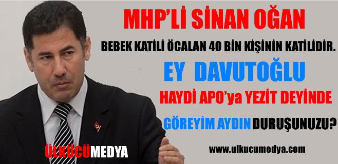 MHP'li Sinan Oğan: Haydi APO'ya Yezit Deyinde Göreyim !