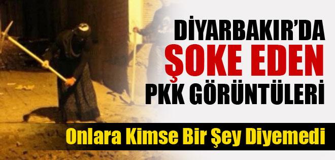 PKK ÜYELERİ ETEK GİYİP HENDEK KAZDI !
