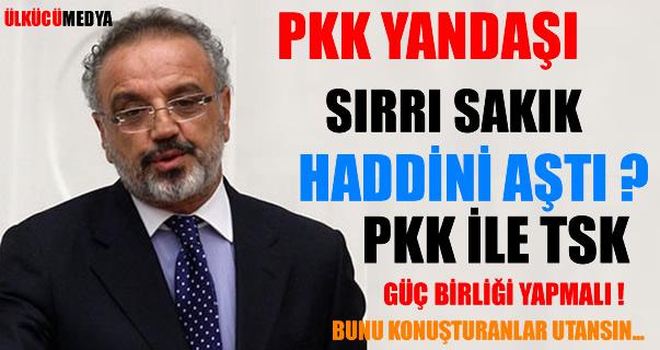PKK'LI SIRRI SAKIK HADİNİ AŞTI PKK VE TSK GÜÇ BİRLİĞİ YAPMALI !
