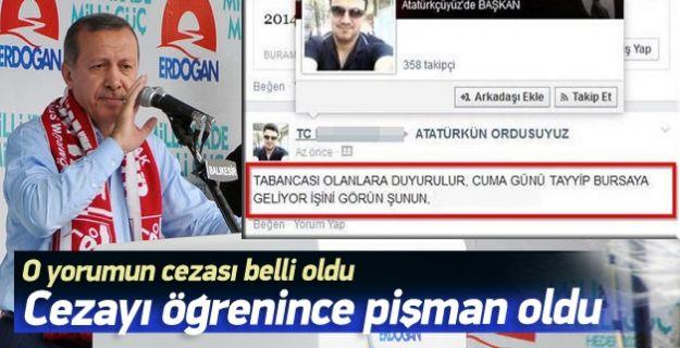 'Erdoğan'ı vurun' diyen tweetin cezası belli oldu