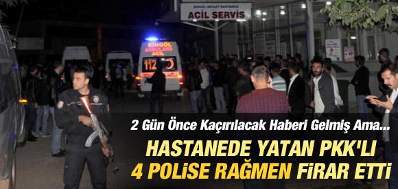 İHBAR VE 4 POLİSE RAĞMEN PKK'LI FİRAR ETTİ !