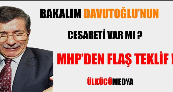 MHP'den Davutoğlu'na Hakkari cevabı !