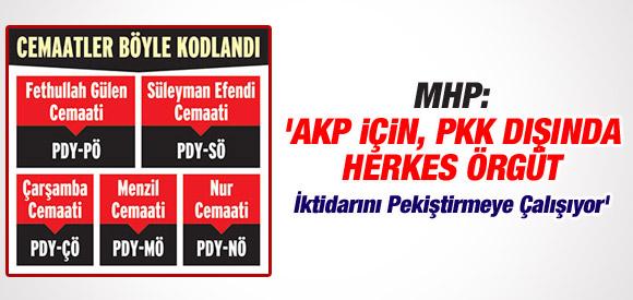 MHP'Lİ VEKİL: AKP İÇİN, PKK DIŞINDA HERKES ÖRGÜT !