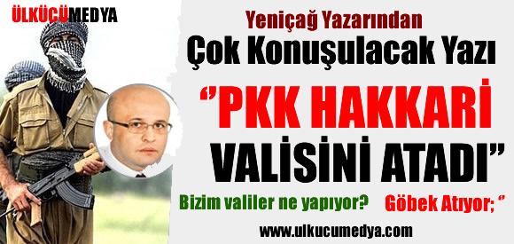 'PKK HAKKARİ VALİSİNİ RESMEN ATADI'