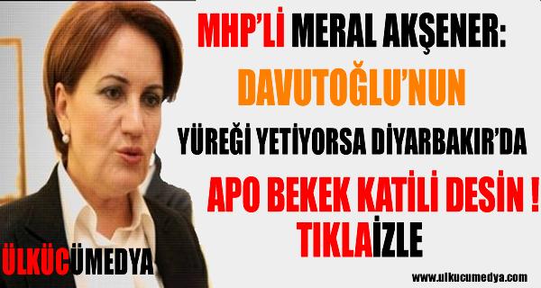 Meral Akşener: Yüreği Yetiyorsa Diyarbakır'da 'Öcalan Bebek Katili' Desin !
