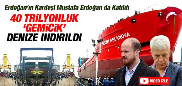 Erdoğan'ın Yeni Gemisi Denize İndirildi !