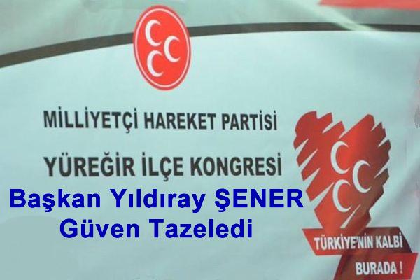 Adana'da MHP Yüreğir'de Başkan Yıldıray Şener