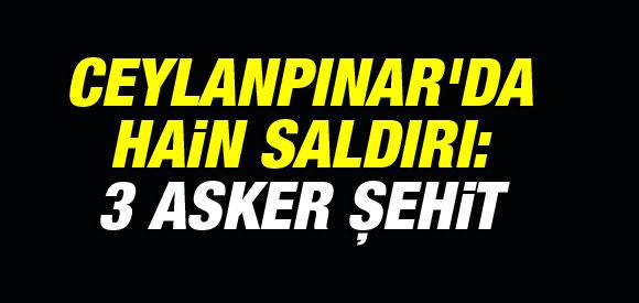 CEYLANPINAR'DA HAİN SALDIRI: 3 ASKER ŞEHİT !