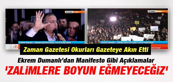 Zaman Gazetesi Önünde Operasyon Protestosu !
