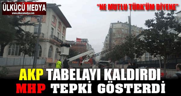 MHP' NE MUTLU TÜRKÜM DİYENE TABELASINI ASTI, AKP İNDİRDİ !