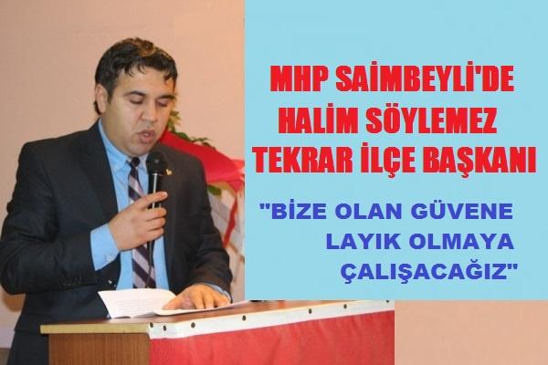 MHP Adana Saimbeyli'de Başkan Yine Halim Söylemez