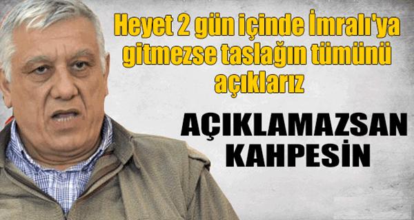 """PKK'DAN """"TASLAĞI AÇIKLARIZ"""" TEHDİDİ !"""