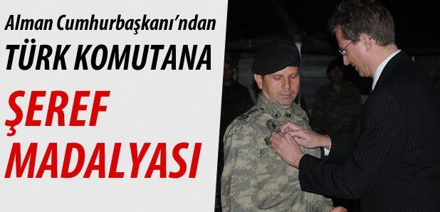 Almanya Cumhurbaşkanın'dan, Türk Komutana Şeref Madalyası !