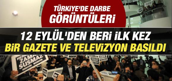 12 EYLÜL'DEN BERİ İLK KEZ GAZETE VE TELEVİZYON BASILDI !