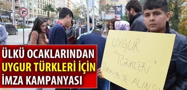 Ülkü Ocaklarından Uygur Türkleri için imza kampanyası !