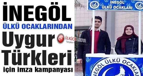 İnegöl Ülkü Ocaklarından Uygur Türkleri İçin İmza Kampanyası !
