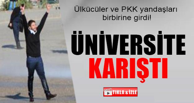 PKK YANDAŞLARI ÜLKÜCÜLERE SALDIRDI !
