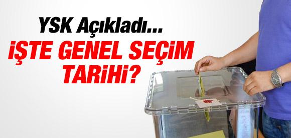 YSK 2015 GENEL SEÇİM TARİHİNİ AÇIKLADI !