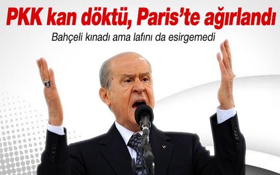 Bahçeli: PKK Cudi'de kan döktü, Paris'te ağırlandı