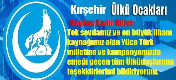 Kırşehir Ülkü Ocakları: Doğu Türkistan bizden bir parçadır