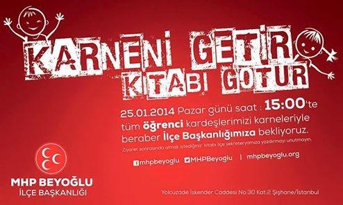 MHP Beyoğlu'ndan çocuklara karne kampanyası