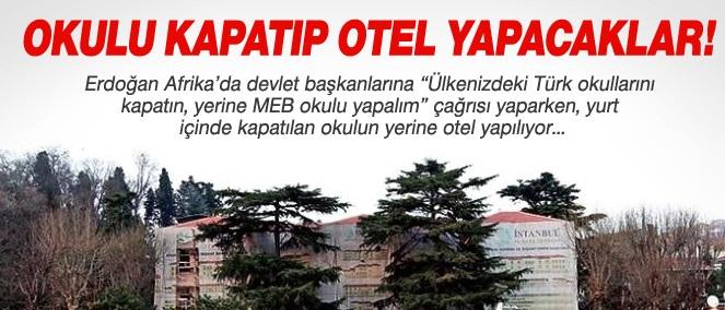 Boğaz'daki tarihi okulu kapatıp otel yapacaklar !
