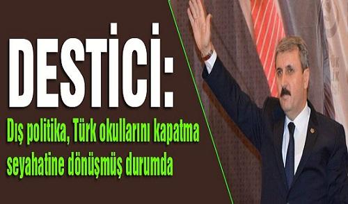 """DESTİCİ; """"SİZ TÜRK MİLLETİNE NANİK YAPMAYIN"""""""