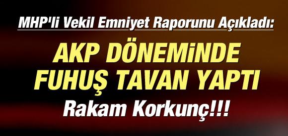 'AKP DÖNEMİNDE FUHUŞ TAVAN YAPTI''