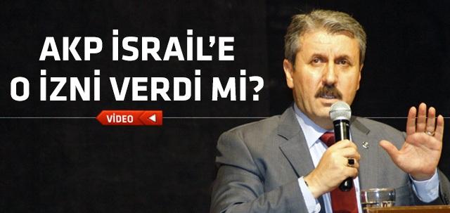 Mustafa Destici: AKP, İsrail'e  arama izni verdi !