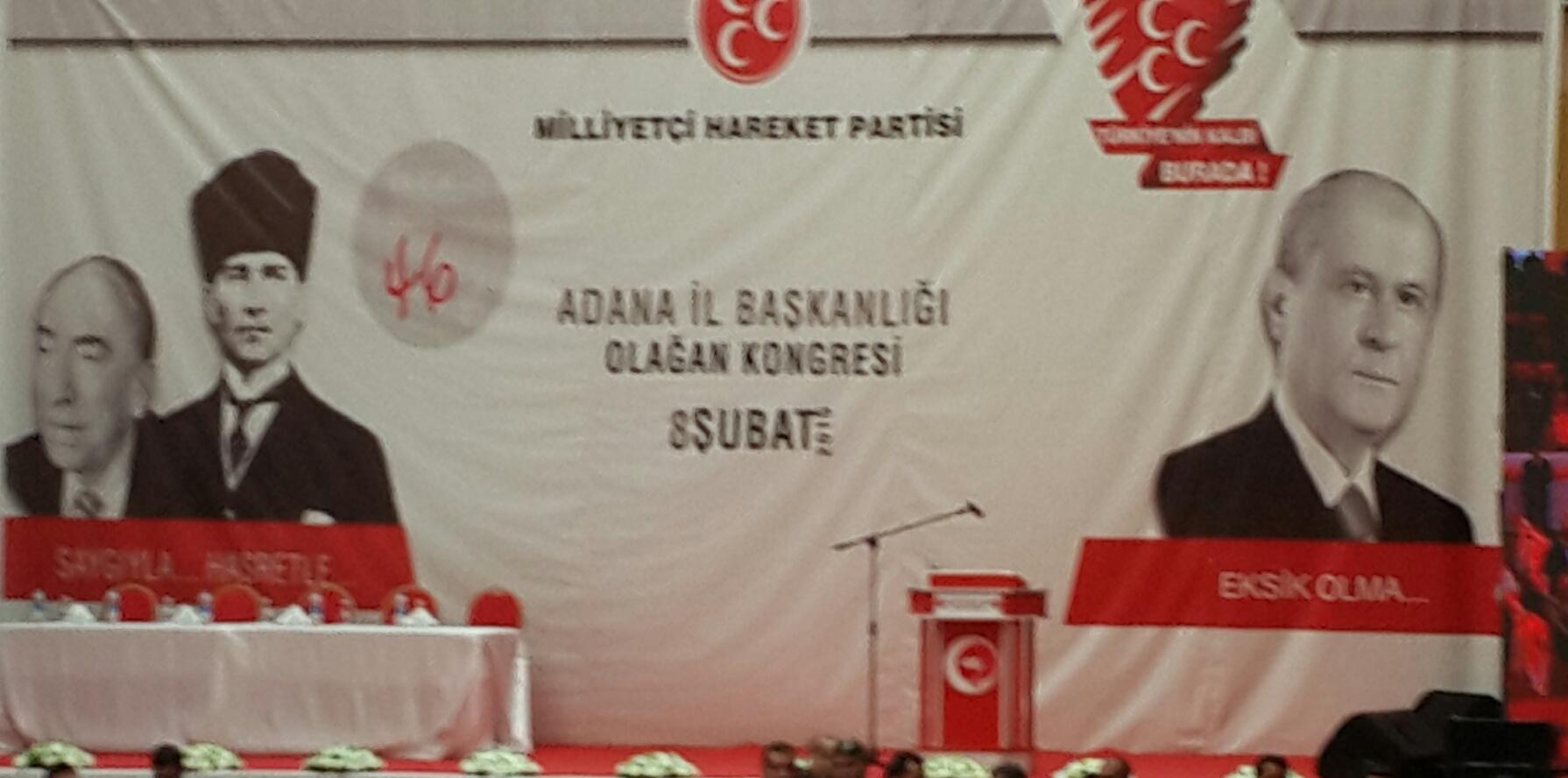 MHP ADANA İL KONGRESİ BAŞLADI