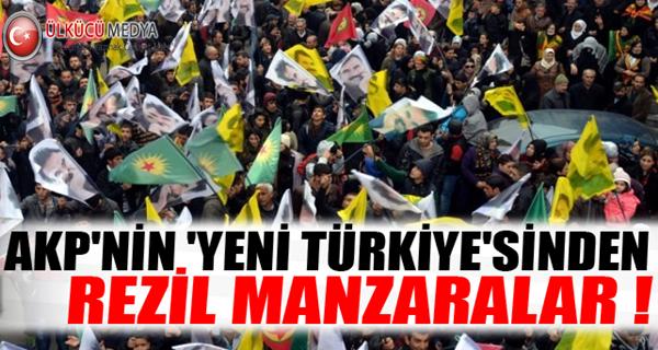PKK yandaşları Bebek Katili Öcalan için yürüdü !