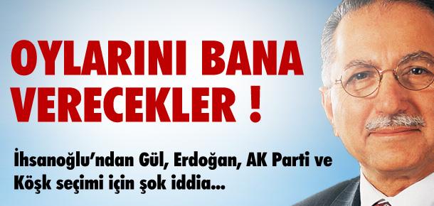 İHSANOĞLU'DAN AKP VE GÜL İÇİN ŞOK İDDİA !