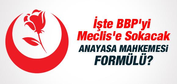 BBP'Yİ MECLİS'E SOKACAK AYM FORMÜLÜ!