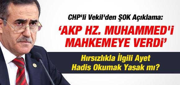 """""""AKP HZ. MUHAMMED'İ MAHKEMEYE VERDİ"""""""