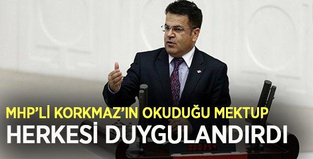 MHP'li Korkmaz Polis Babasının Ağlatan Mektubunu Meclis'te okudu!