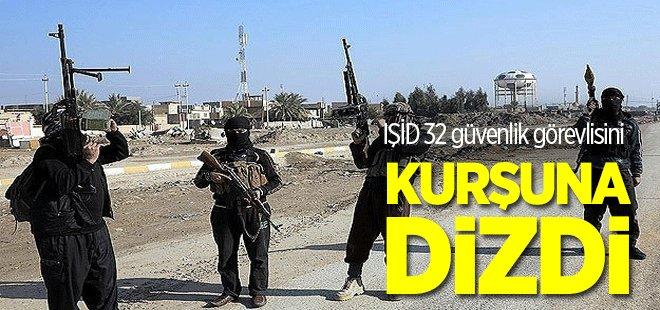 IŞİD 32 güvenlik görevlisini kurşuna dizdi