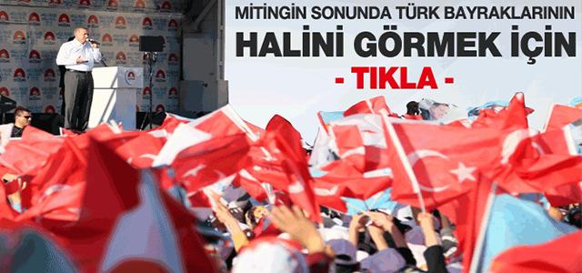 AKP MİTİNGİNDEN SONRA BAYRAKLARIN HALİNİ BAKIN !
