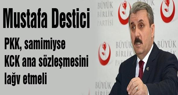 DESTİCİ; PKK TÜRKİYE'Yİ YÖNETENLERLE KEDİNİN FAREYLE OYNADIĞI GİBİ OYNUYOR'