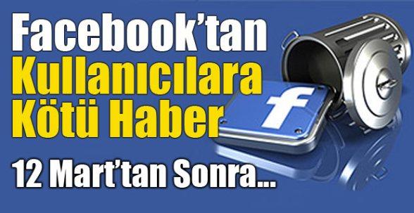 Facebook'tan kullanıcılara kötü haber