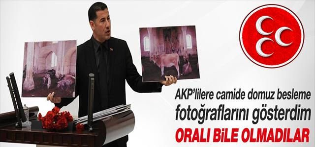 """MHP'Lİ SİNAN OĞAN: AKP'NİN """"CAMİİDEKİ DOMUZ"""" DUYARSIZLIĞI !"""
