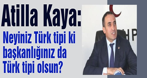 MHP'li Kaya: Neyiniz Türk tipi ki başkanlığınız da Türk tipi olsun?