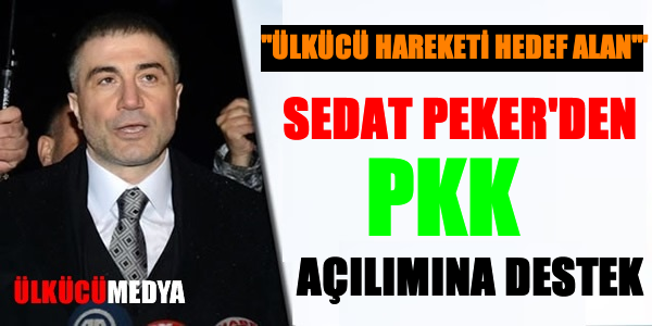 Sedat Peker'den PKK Açılımına Destek !