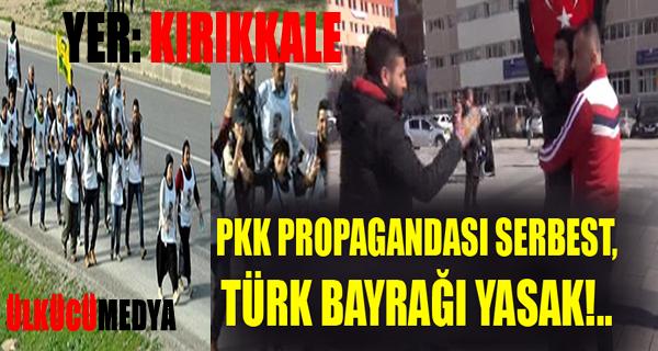 Kırıkkale'de Vatandaş Türk Bayrağı açtı diye gözaltına alındı!