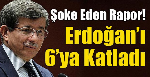 Davutoğlu, Erdoğan'ı 6'ya katladı