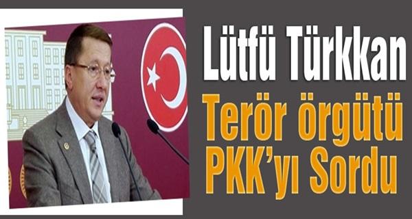 MHP'li Lütfü Türkkan; Terör Örgütünü Sordu !
